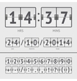 countdown timer vector image vector image
