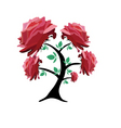 rose tree vector image