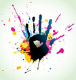 abstract hand grunge art vector image