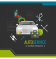 Auto Mechanic Flat Icon vector image