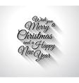 Merry Chrstimas Retro Typography slogan with long vector image vector image