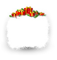 Snow frame with red gift boxes vector image
