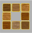 web wood frames vector image vector image