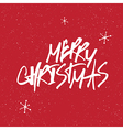 merry christmas snowflakes lettering vector image