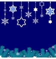 Border of snowflakes vector image