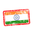 india flag red grunge rubber stamp vector image