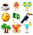 Brazil icons set vector image