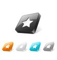 Button3dStar 01 vector image