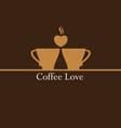 coffee love logo vector image