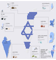 Dot And Flag Map Of State of Israel Infographic vector image