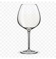 Empty wine glass vector image