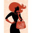 fashion shopping girl vector image