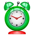 Green alarm clock vector image
