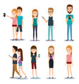 modern society people communication persons with vector image