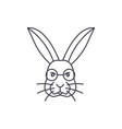 rabbit head line icon sign vector image