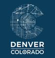 colorado t shirt with denver city map vector image