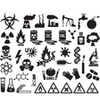Hazard and Danger Icon Set vector image vector image