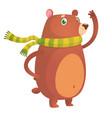 happy cartoon brown bear vector image