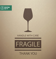 Fragile Sign Handle with Care vector image