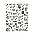 Repair icons sketch for your design vector image vector image