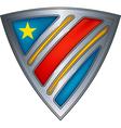 steel shield with flag congo vector image vector image