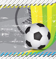 grunge soccer design background vector image