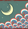 Abstract night image with moon grunge vector image vector image