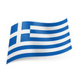 National flag of greece blue and white horizontal vector image