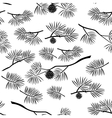 Pine Branch Seamless Background vector image