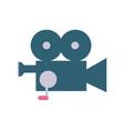 professional video camera icon vector image