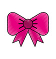 scribble fuchsia bow cartoon vector image