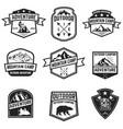 set of hiking badges isolated on white background vector image