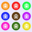 shopping bag icon sign A set of nine different vector image