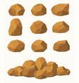 stones and rocks brown stones boulders vector image
