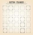 vintage old-fashioned frames vector image