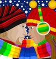 Winter Love vector image