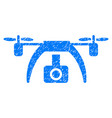 drone video camera grunge icon vector image