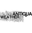 antigua villa rentals text word cloud concept vector image