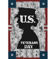 Veterans day vintage poster vector image