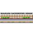 Seamless background design with wooden fence vector image