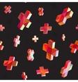 Seamless Multicolor Cross Shape Dimensional vector image