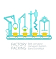 Conveyor factory packing vector image