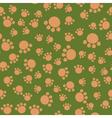 Seamless kids pattern bear paws vector image