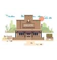 Wild west saloon vector image