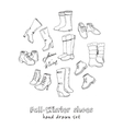 woman fall and winter shoes vector image