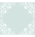 ornament floral background vector image