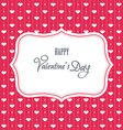 Sweet valentine card vector image