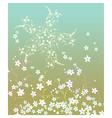 Summer Retro Flowers pattern vector image
