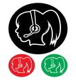 Call center executive icon vector image