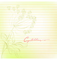 template for note paper vector image vector image